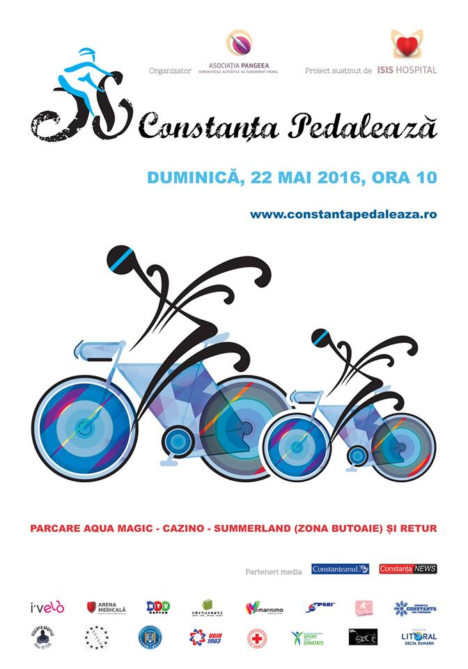 afis- Constanta pedaleaza
